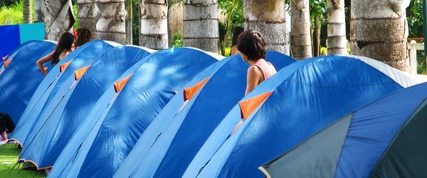 Material textil de un solo uso para Albergues y Campings